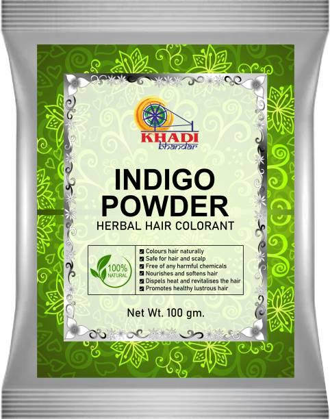KHADI BHANDAR 100% Pure & Natural Indigo Powder Herbal Hair Colorant