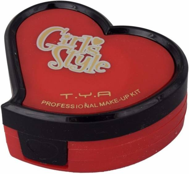 T.Y.A Heart Shaped Makeup Kit Red & Black 5001