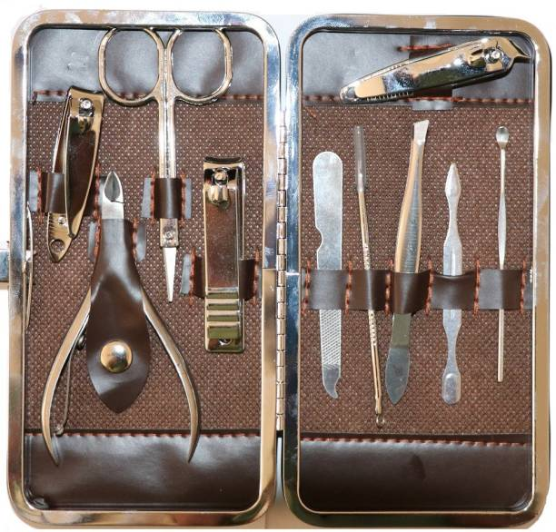 dns 10Pcs Pro Manicure Set tool Nails Clipper for all extension Pedicure set Kit