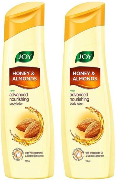 Joy Honey & Almonds Advanced Nourishing Body Lotion, For Normal to Dry skin 100*2(200ml)