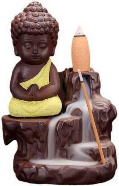 Chitraang Monk Buddha Smoke Backflow Cone Incense Holder Dhoop