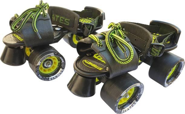 Jaspo Tenacity ZXI Adjustable Roller Skates (black) Quad Roller Skates - Size 6 UK