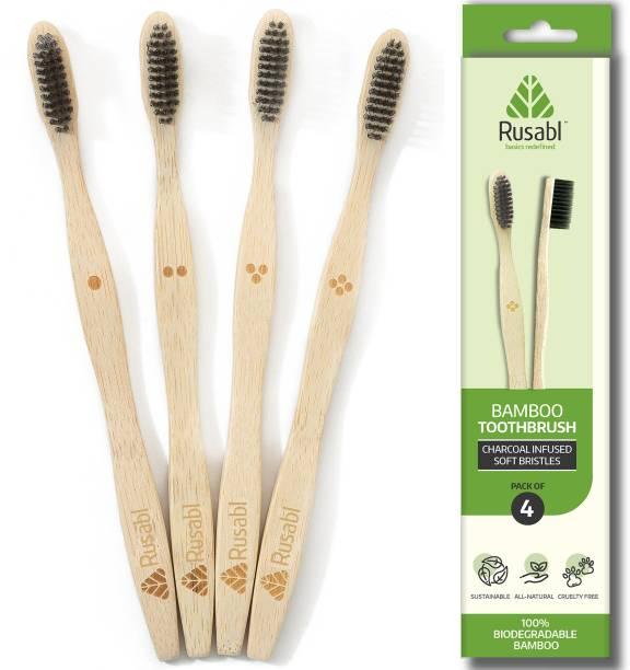Rusabl Bamaboo Toothbrush Soft Toothbrush