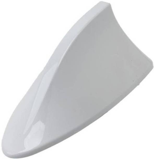 Uniqon ACE0002 Universal Latest Design Cool Exterior Decorative Stylish (White Color) Aerial Shark Fin Car Roof Imitation/Show Antenna Car Accessories (Universal For All Cars) Satellite Vehicle Antenna