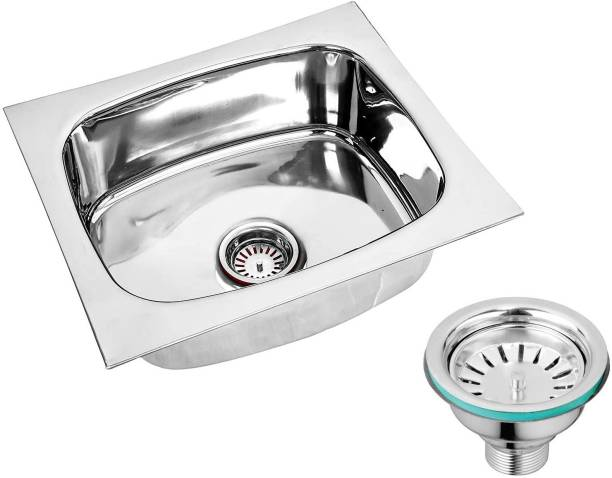 """Caisson (20''X17""""X9"""") 'oval bowl' stainless steel Chrome Finish Kitchen Sink With Waste Coupling , Vessel Sink"""