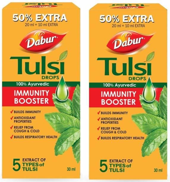 Dabur Tulsi Drops Immunity Booster (Pack of 2)