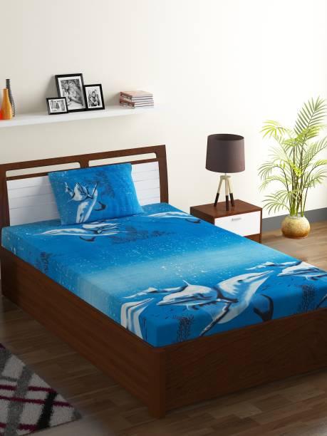 IWS 144 TC Microfiber Single Abstract Bedsheet