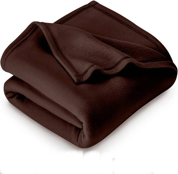 Home Stylish Solid Single Fleece Blanket