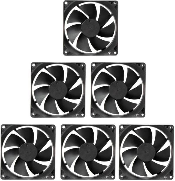 TechSupreme PACK OF 5 DC 12V Cooling Fan for PC Case 3.5 INCHES Cooling Fan for PC Case CPU Cooler