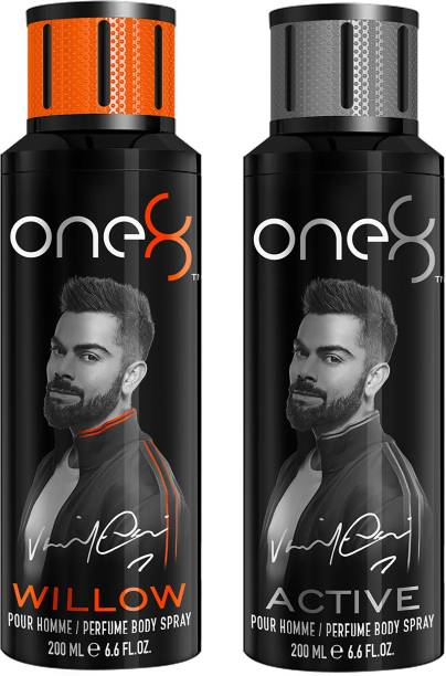 one8 by Virat Kohli One8 Deo combo 2 PC Willow+Active Perfume Body Spray  -  For Men