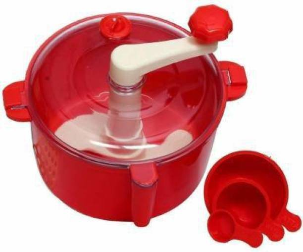 DG PLASTO Automatic Non Electric Dough Maker Machine Atta Maker for Kitchen Plastic Detachable Dough Maker