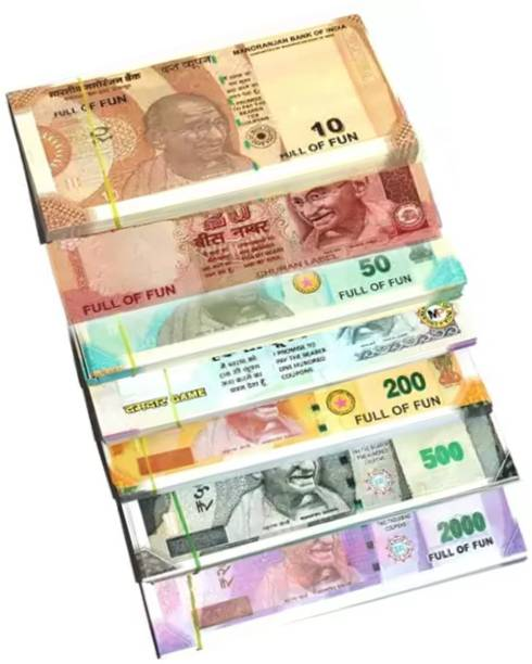 VK MART indan fake currency /dummy note (each note 50ps)50-500-200-2000-10-20-100 Notes Money Gag Toy