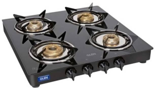 GLEN 1040 GT XL JU BB Black Glass Manual Gas Stove