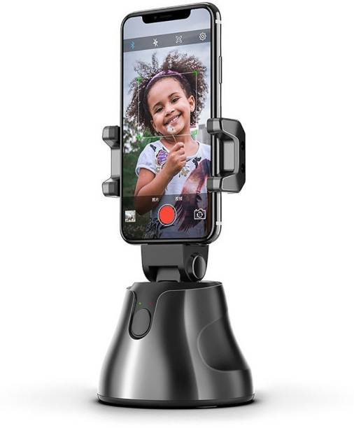 IMMUTABLE RRT-2 360 Rotation auto face Tracking Smart Shooting Camera Holder Mount,unmanned Smart Object Tracking Camera Phone Holder Mount Compatible with All iPhone and Android Phone 2 Axis Gimbal