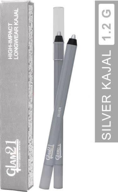 Glam 21 Silver colored Waterproof long lasting Kajal
