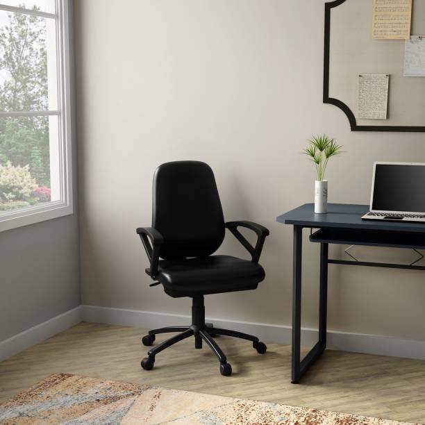Godrej Interio Virtue Leatherette Office Arm Chair