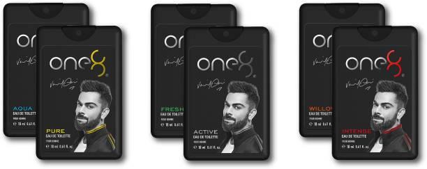 one8 by Virat Kohli ONE8 Pocket EDT COMBO PACK 18 ML X 6 Eau de Toilette  -  108 ml