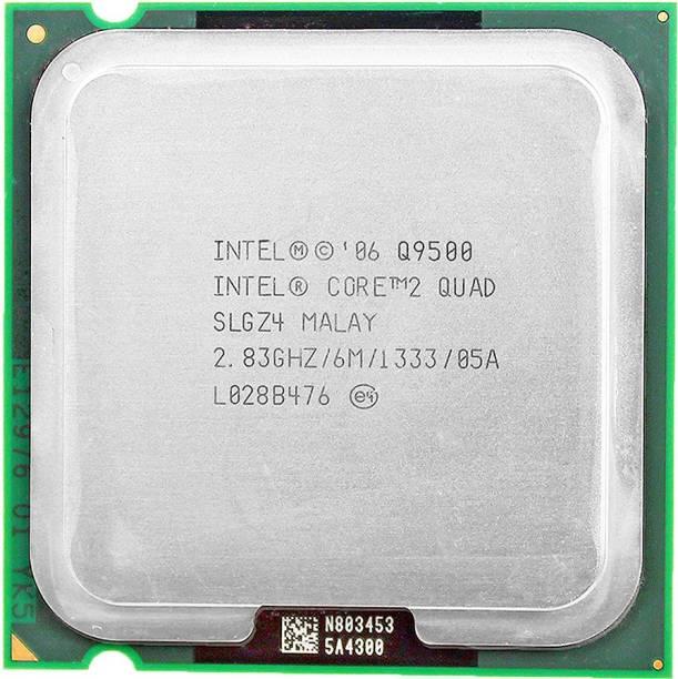 Intel Quad core Q9500 2.83 GHz Upto 2.83 GHz LGA 775 Socket 4 Cores 4 Threads 6 MB Smart Cache Desktop Processor