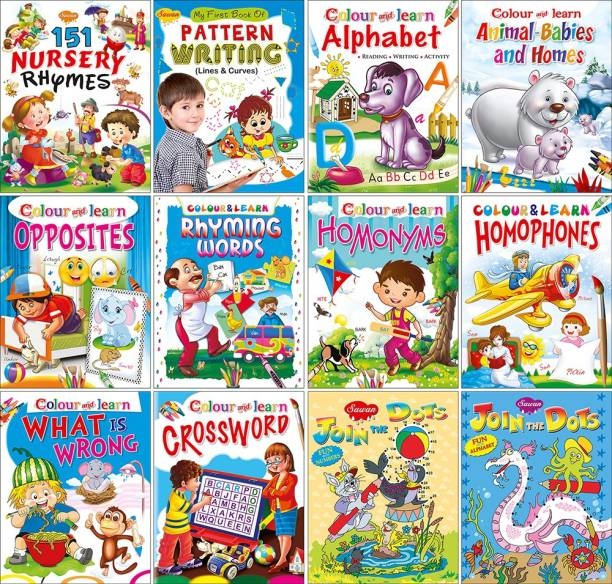 My Complete Kit Of Nursery Books - A Set Of 12 Books Paperback | Super Jumbo Combo For Collecters And Library Rhymes, Activity And Colouring Books