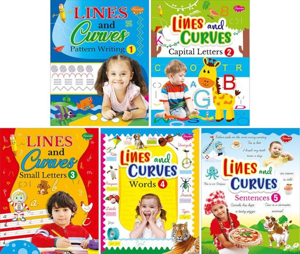 My First Super Pack Of Pencil Control And Patterns: A Set Of 5 Interactive Activity Books To Practice Writing | Super Jumbo Combo For Collecters And Library Pre School Books