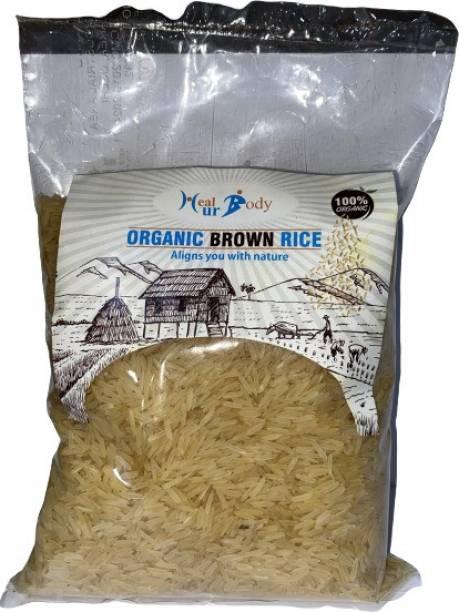 Healurbody Organic Brown Rice-1 Kg (Pack of 1) Brown Long Grain Rice (Long Grain)