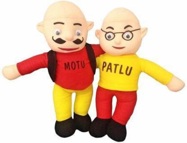 zoonio Beautiful Motu Patlu Soft Toy for Kids Multicolour  - 20 cm