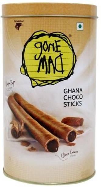 Gone Mad Ghana Choco Sticks (Pack of 3 X 0.6 g) Wafers