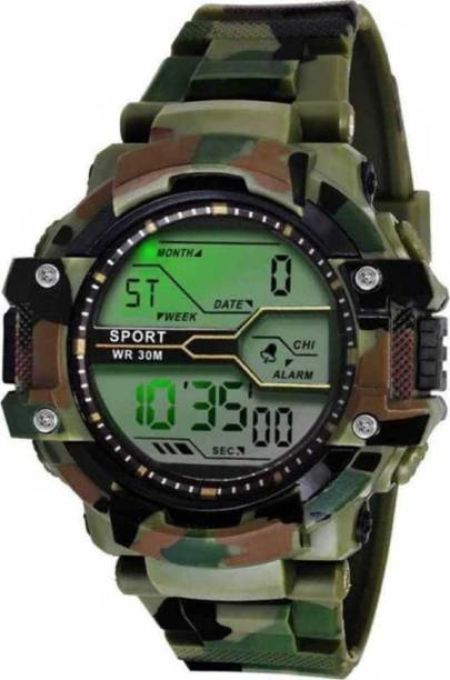 MR NUN CH-012-Army Chorograph- L17 Light-Waterproof- Digital Watch - For Men Latest Stylist Different Attractive Look Classic Young Designers SKMEI Sport Multifunction Men's Watch Digital Watch - For Boys CH ARMY Digital Watch - For Men & Women Digital Watch  - For Men