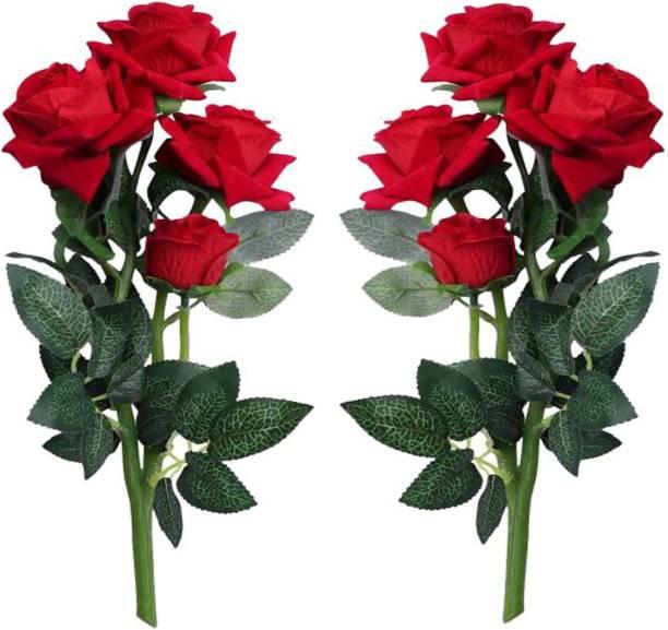 HUG ME Red Rose Artificial Flower