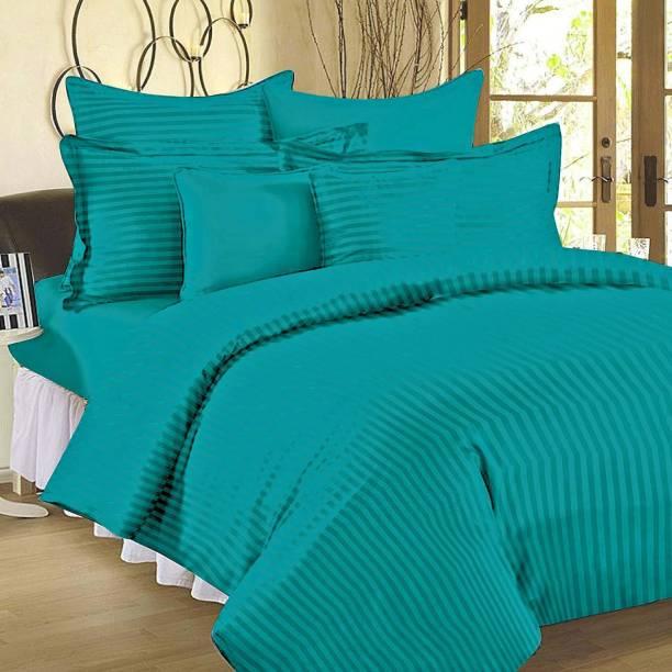 Koji 210 TC Cotton Double King Striped Bedsheet