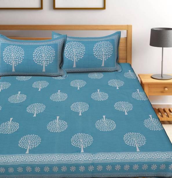 Gaurik Enterprises 115 TC Cotton Double Printed Bedsheet