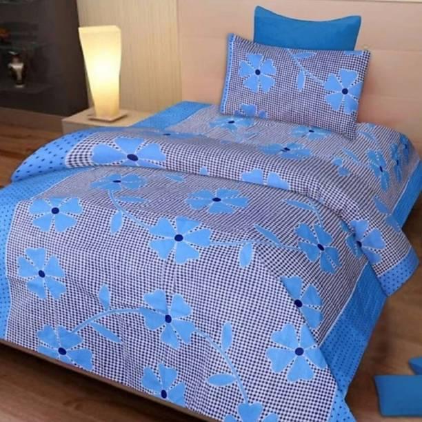Pridhi 150 TC Polycotton Single 3D Printed Bedsheet