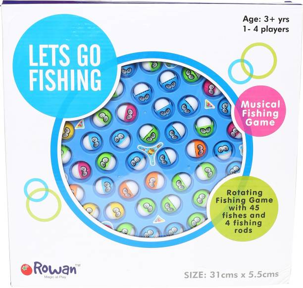 Hamleys Rotating Musical Fishing Game - Big Party & Fun Games Board Game