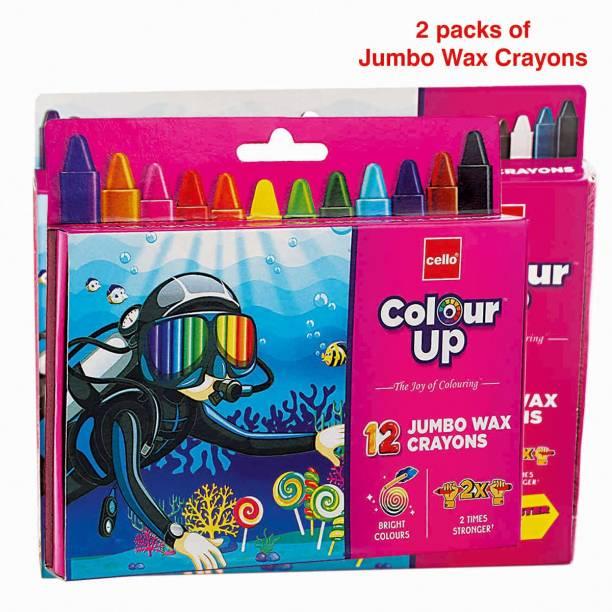 Cello ColourUp Jumbo Waxy Crayon Combo