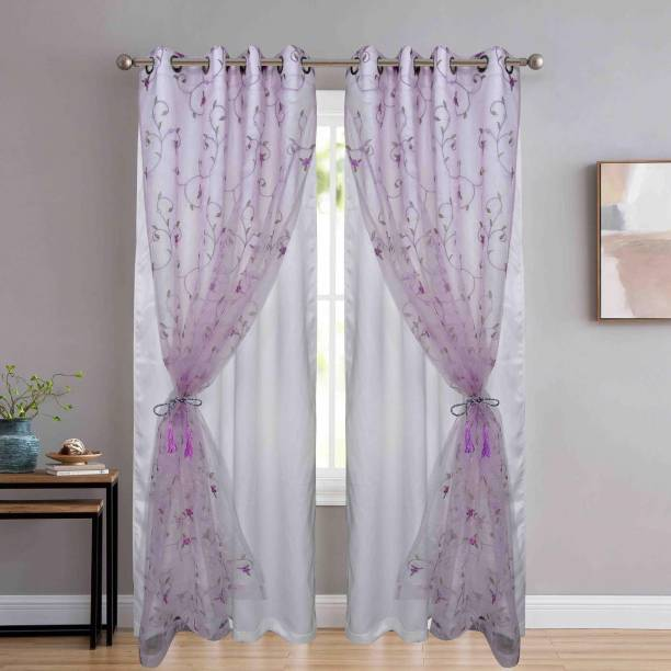 JVIN FAB 213.36 cm (7 ft) Polyester Door Curtain (Pack Of 2)