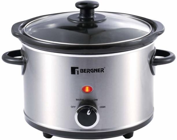 Bergner BG 198 Slow Cooker, Rice Cooker, Egg Roll Maker, Food Steamer, Egg Cooker, Travel Cooker