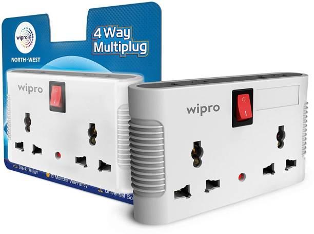 Wipro NWM0100 North West 4 Way Multiplug Three Pin Plug