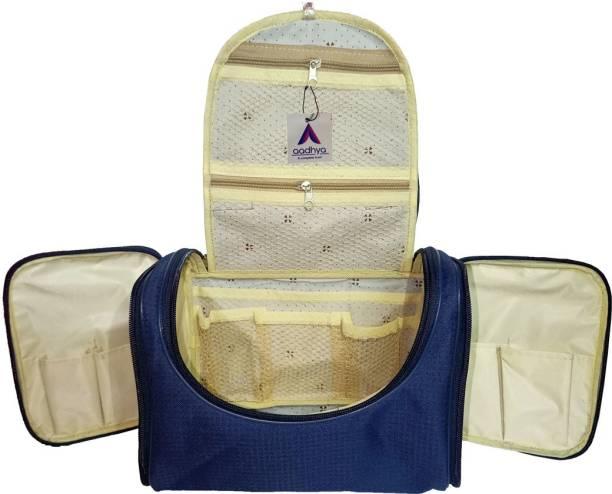Aadhya Portable Cosmetic-Makeup-Bathroom kit Bag/ shaving Kit , makeup Vanity Box