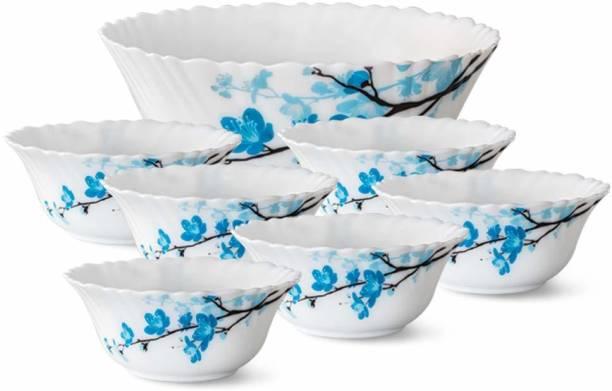 Larah by Borosil Mimosa - Pudding Set Opalware Serving Bowl