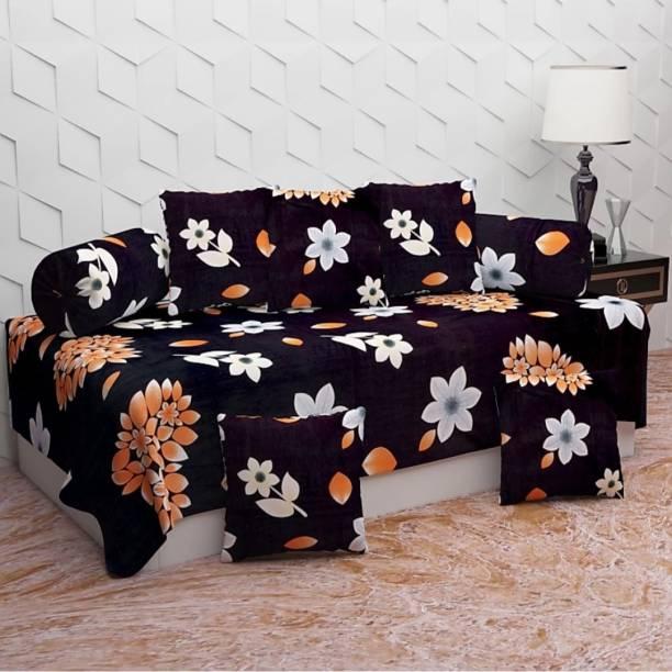 igi Cotton Floral Diwan Set