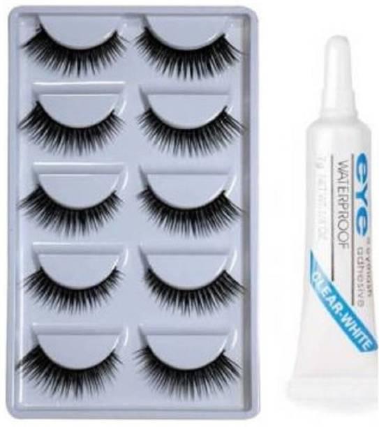 Uchiha 5 Pair Of False Eyelashes With Glue