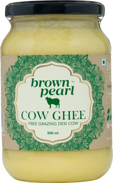 Sarthak Satvik Brown Pearl Free Grazing A2 CowGhee Ghee 500 ml Glass Bottle
