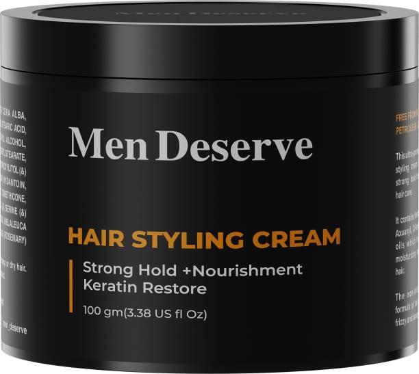 Men Deserve Hair Styling Cream (Strong Hold + Nourishment) Keratin Restore Hair Cream