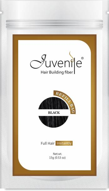 Juvenile Hair Volumizer For Instant Hair Black Refill Pack 15gm Jvnl_15gms Extreme Hair Volumizer Hair Building Fiber