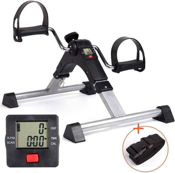 Leosportz Bike Pedal Exerciser-Folding Portable Exercise Peddler with Electronic Display Mini Pedal Exerciser Cycle