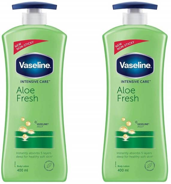 Vaseline Intensive Care Aloe Fresh Body Lotion 400 ML Pack of 2