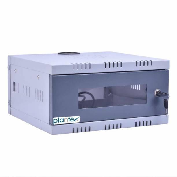 Plantex High Grade CCTV/DVR/NVR Cabinet Box/DVR Rack Wall Mount with Lock/Network Rack/Server Rack with Power Socket - 1U Iron Wall Shelf