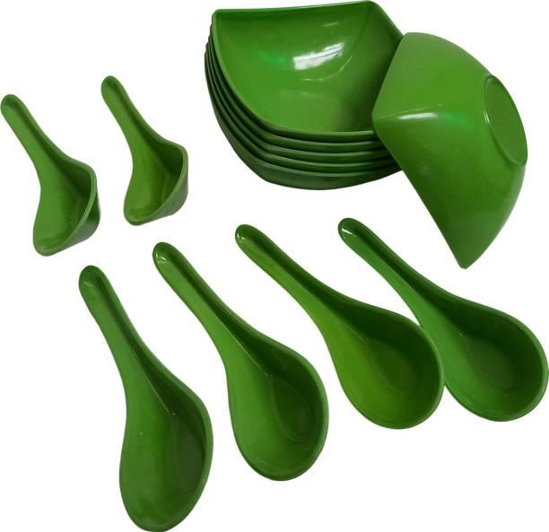 Abon Bowl, Spoon Serving Set