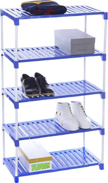 FLIPZON Strong Rack Organizer for Shoe/Clothes/Books - (Need to Be Assemble - DIY)- (Foster) Metal, Plastic Shoe Stand