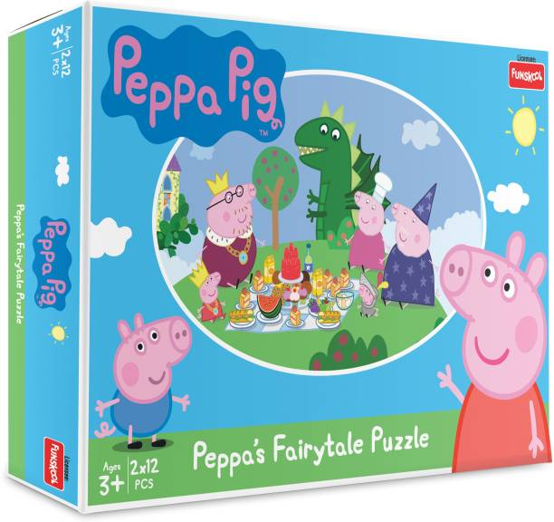 FUNSKOOL Puzzles Peppa Pig Fairty Tale Puzzle Educational Board Games Board Game